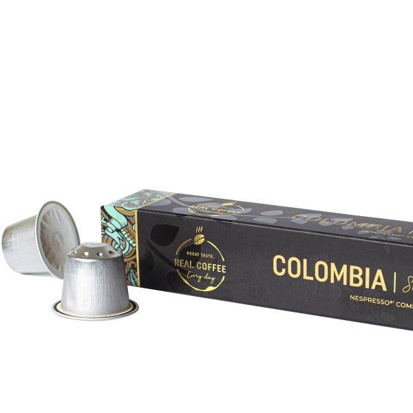 Real Coffee kaffekapsel Lungo Columbia, 10 stk
