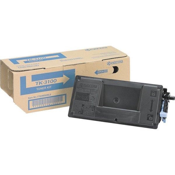 Kyocera TK-3100 lasertoner, sort, 12500s