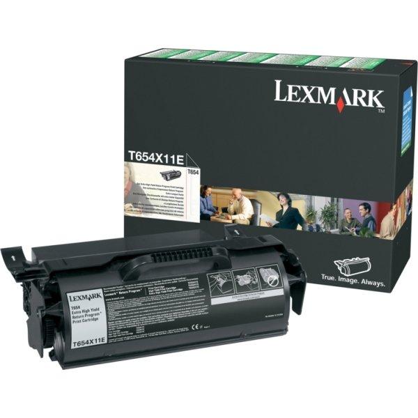 Lexmark T654X11E lasertoner, sort, 36000s