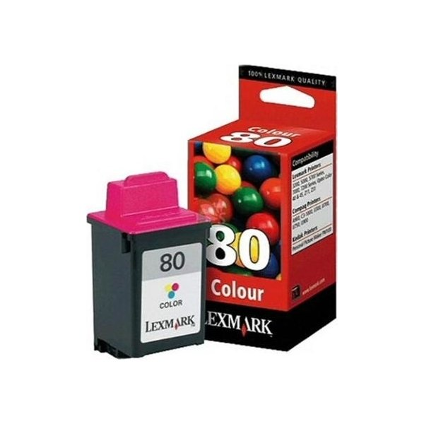 LEXMARK 12A1980 blæk, Color (200 sider)