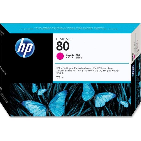 HP nr.80/C4874A blækpatron, rød, 175 ml