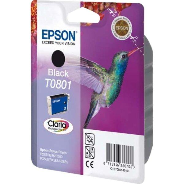 Epson nr.T0801/C13T08014011 blækpatron, sort, 300s