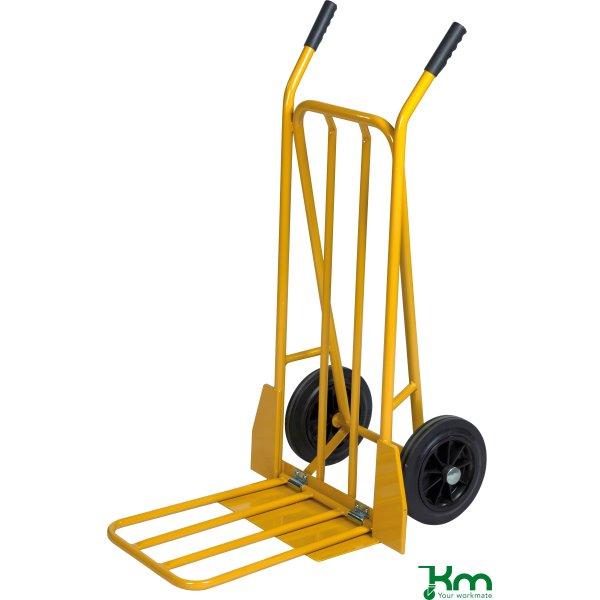 Sækkevogn m. udfaldsramme, massive hjul, 250 kg