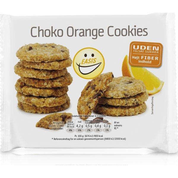 EASIS Choko Orange Cookies, uden sukker, 132 g