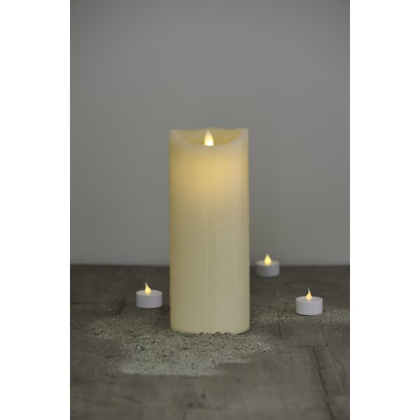 Sara LED vokslys, Mandel, Ø.10 cm, H.25 cm