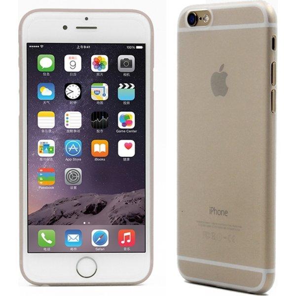 Twincase iPhone 6S plus case, transparent hvid