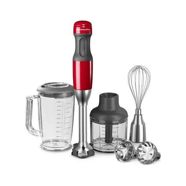 KitchenAid Multifunktionel Stavblender, Rød
