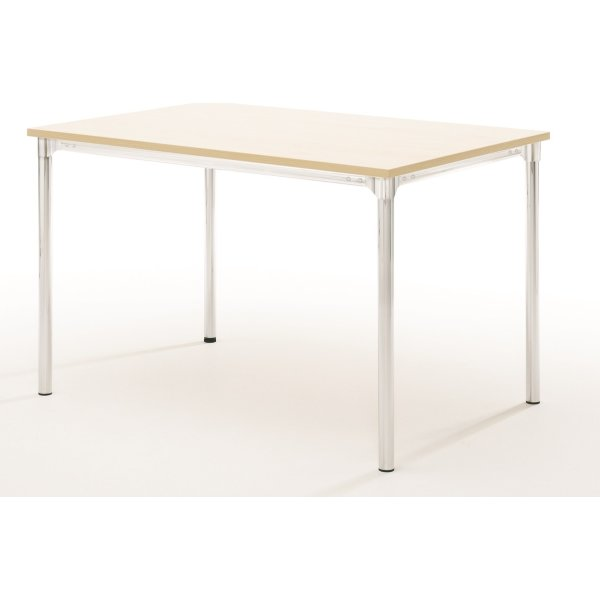 Eminent kantinebord 120x80 cm, bøg melamin / krom