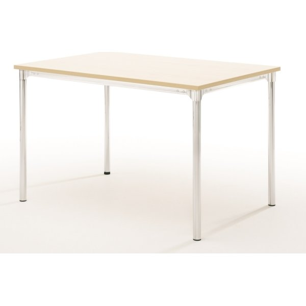 Eminent kantinebord 160x80 cm, bøg melamin, alulak