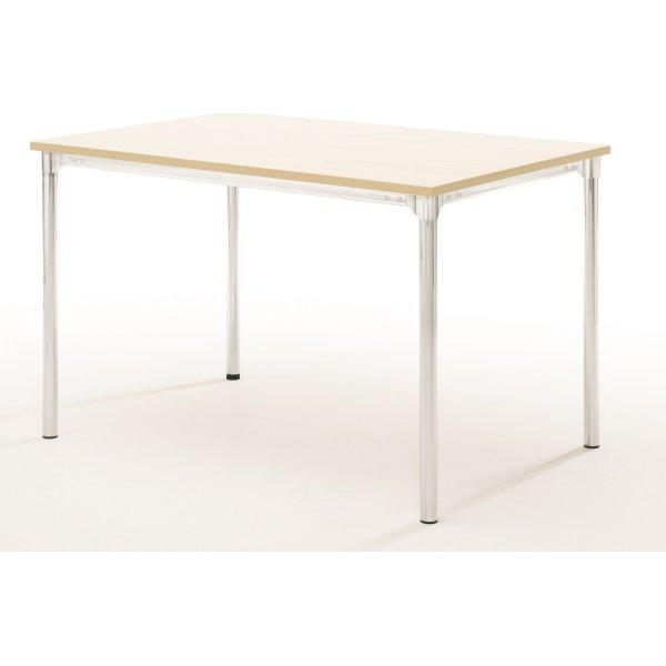 Eminent kantinebord 120x80 cm, bøg melamin, alulak