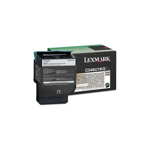 Lexmark C546U1KG lasertoner, sort, 8000s
