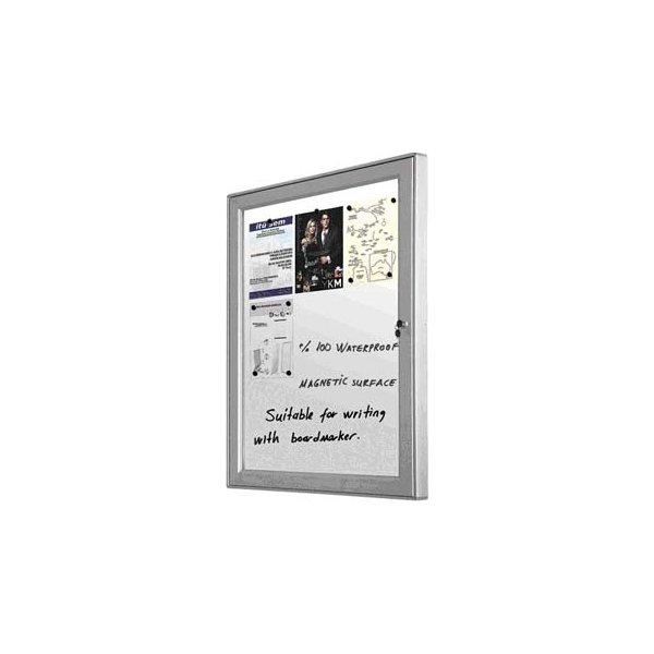 Infobox, magnetisk med lås, 59x76 cm, alu ramme