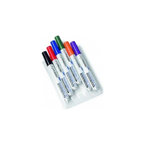 Legamaster TZ-1 whitebordmarker sæt, 6 farver