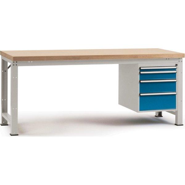 Manuflex prof arb.bord,175x70,Multiplex,Grå,Grund