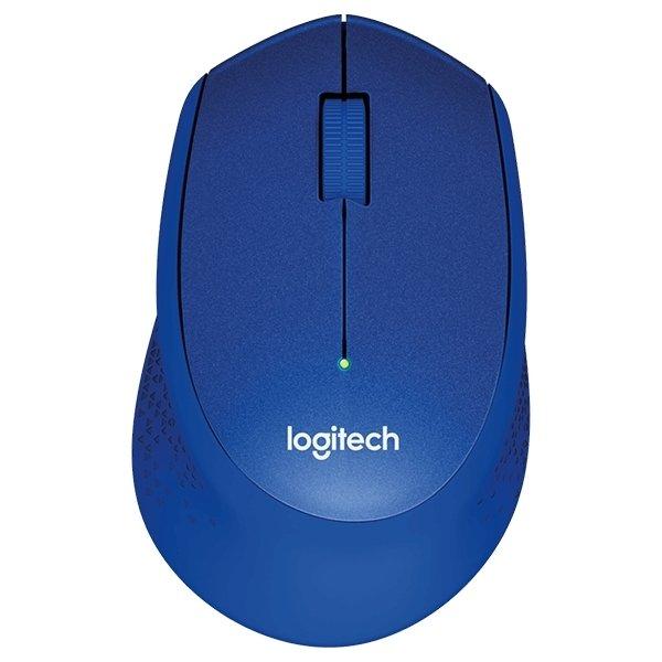 Logitech M330 Silent Plus mus, blå