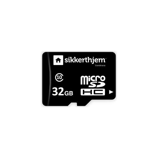 32GB microSD + USB adapter til SikkertHjem Kamera