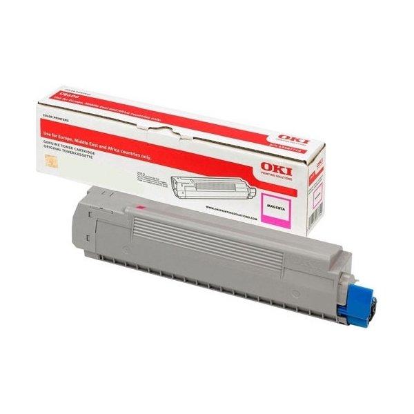 OKI 46443102 lasertoner, rød, 10.000s