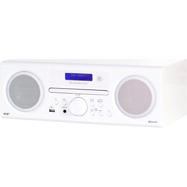 Scansonic DA310 DAB+/FM/CD-radio - Hvid