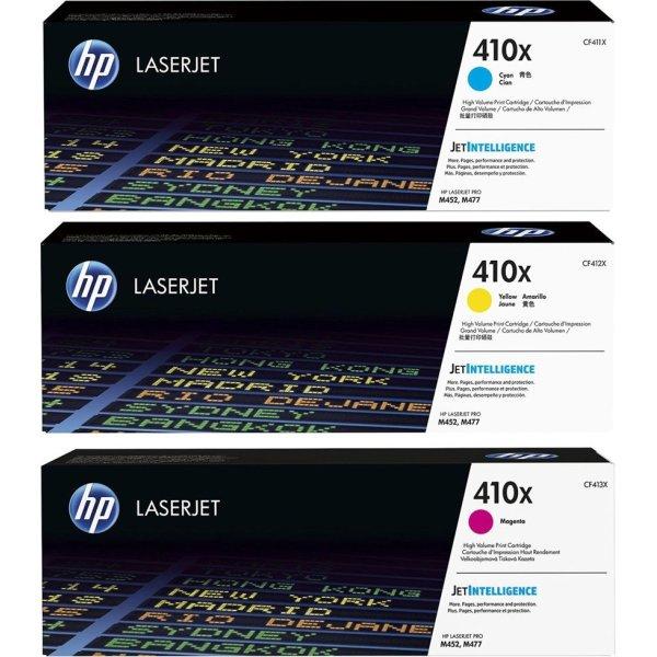HP 410X/CF252XM lasertoner CMY, 5000s, 3-pak