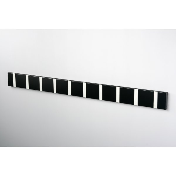 KNAX 10 knagerække, vandret, sort/grå