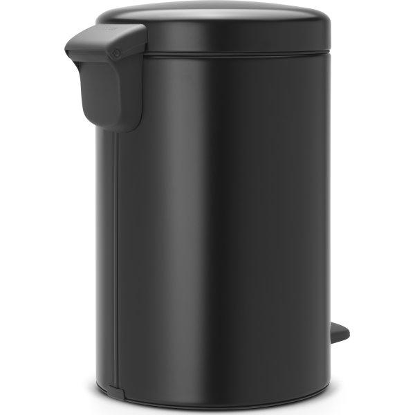 Brabantia Pedalspand, 12 L, matt black