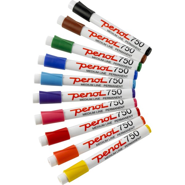 Penol 750 spritmarker, rød