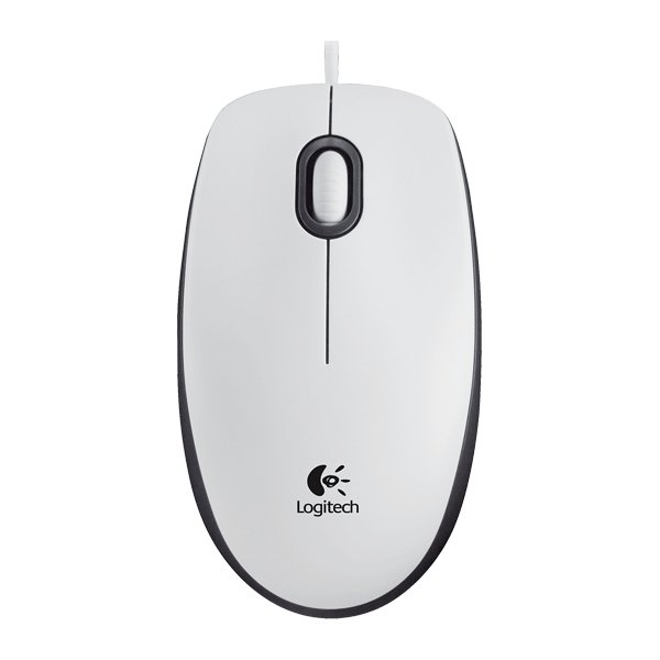 Logitech M100 computermus, hvid