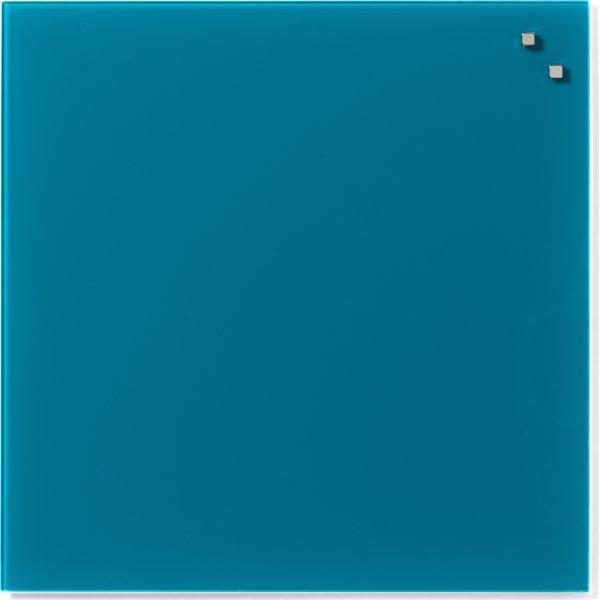 Glassboard magnetisk glastavle 45 x 45 cm aquagrøn
