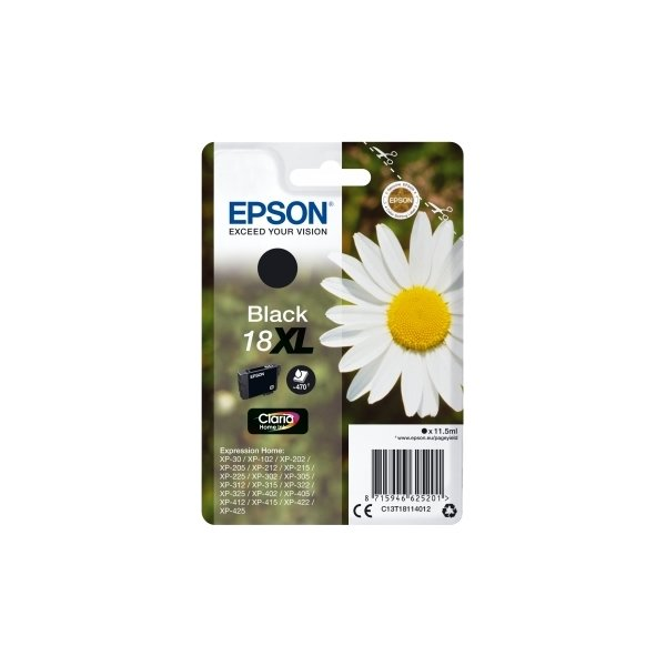 Epson 18/C13T18114022 sort blækpatron, 470s /alarm