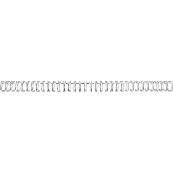 GBC metal spiralryg A4, 34 rings, 6mm, sølv