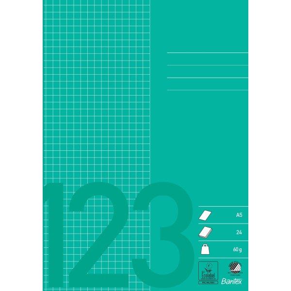 Bantex kladdehæfte A5, kvadreret, grøn