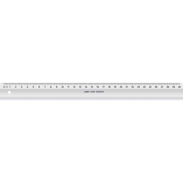 Linex 1030M skolelineal, 300 x 29mm