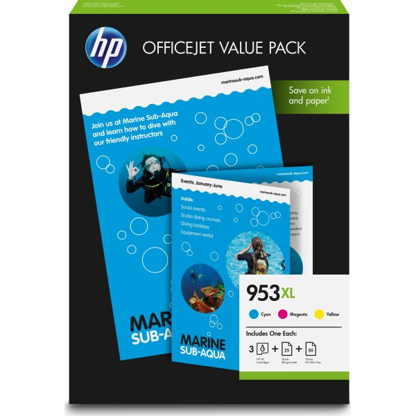 HP 953XL Officejet Value Pack, 1600s