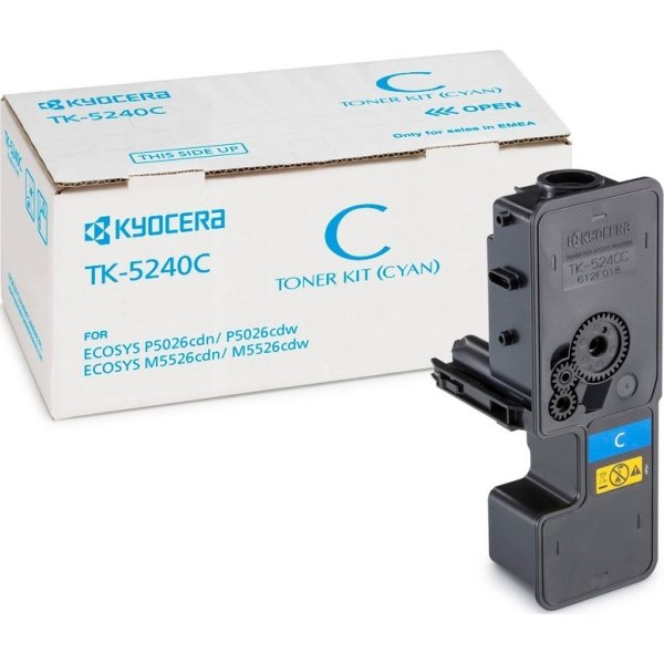 Kyocera TK-5240C lasertoner, cyan, 3000s