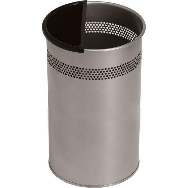 Twin Metal Papirkuv 21 liter, sølv