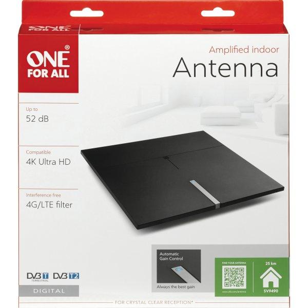 One For All SV 9490 indendørs aktiv antenne, 52 dB