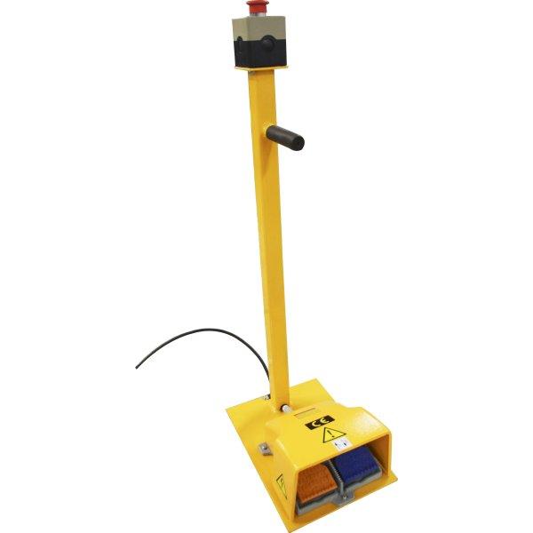 Fodpedal til stationære løfteborde, 5 meter, gul