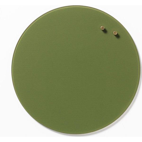 NAGA magnetisk cirkel glastavle, 35 cm, grøn