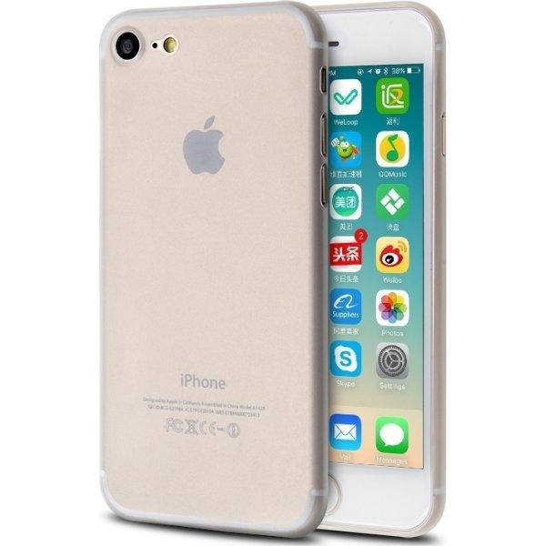Twincase iPhone 8 case, transparent hvid