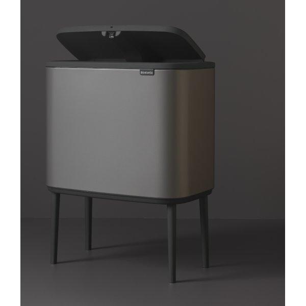Brabantia BO Touch Bin 3x11 L, platinum