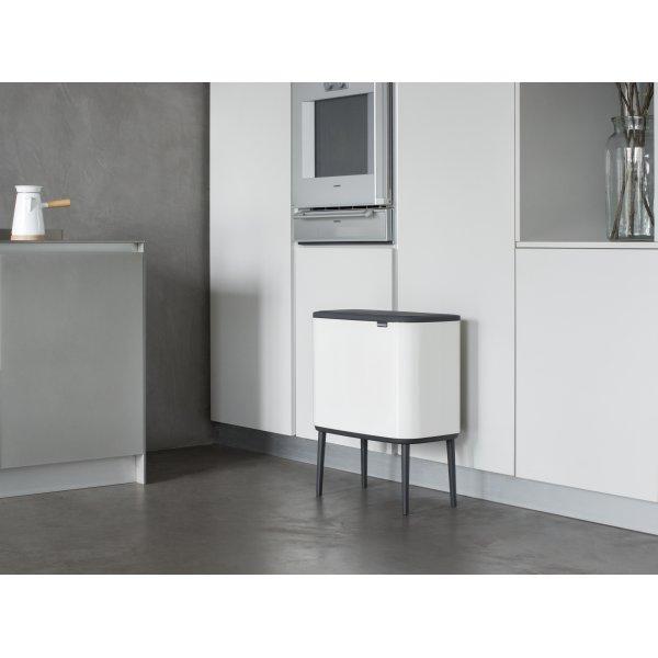 Brabantia BO Touch Bin 3x11 L, white