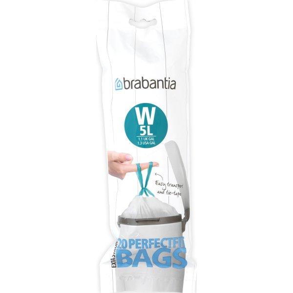 Brabantia Affaldspose W, 5 liter, 20 stk.