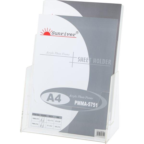 Brochureholder bord 2 fag A4