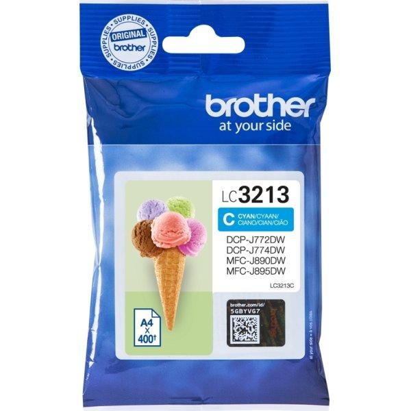 Brother LC3213 blækpatroner, cyan, 400s