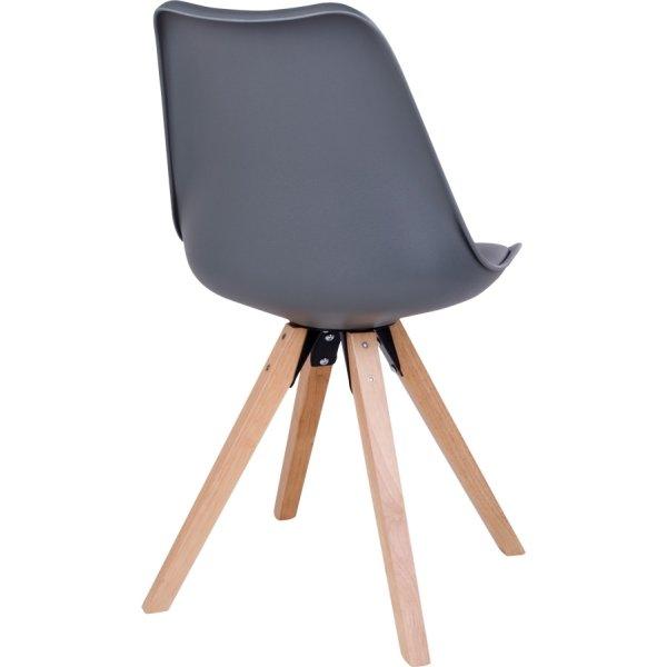 Merkur spisebordsstol, grå m. træben
