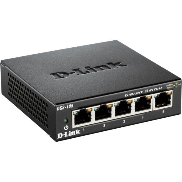 D-Link DGS-105 Switch, 5 ports 10/100/1000