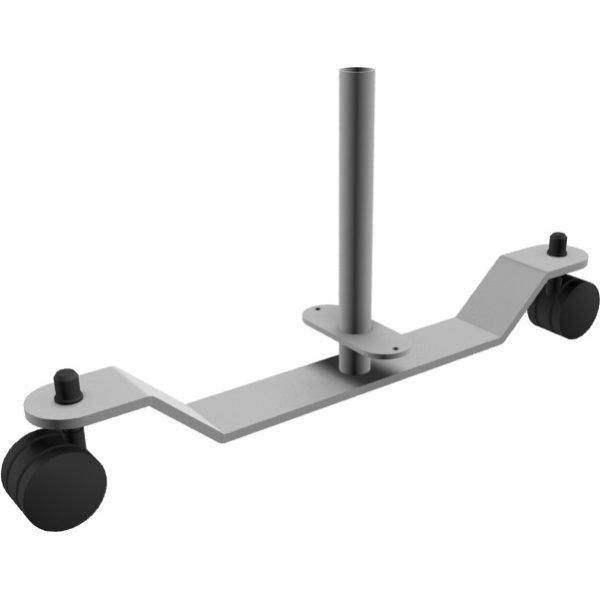 Easy skærmvægsfod MED hjul, Silver