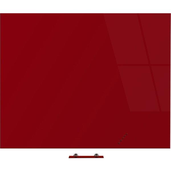 Vanerum Bright glastavle, 120 x 150 cm, rød