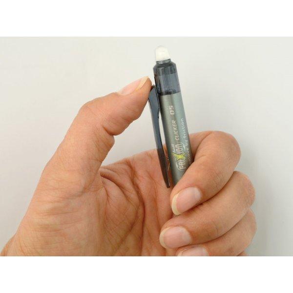 Pilot Frixion Clicker kuglepen, 0,5 mm, blåsort