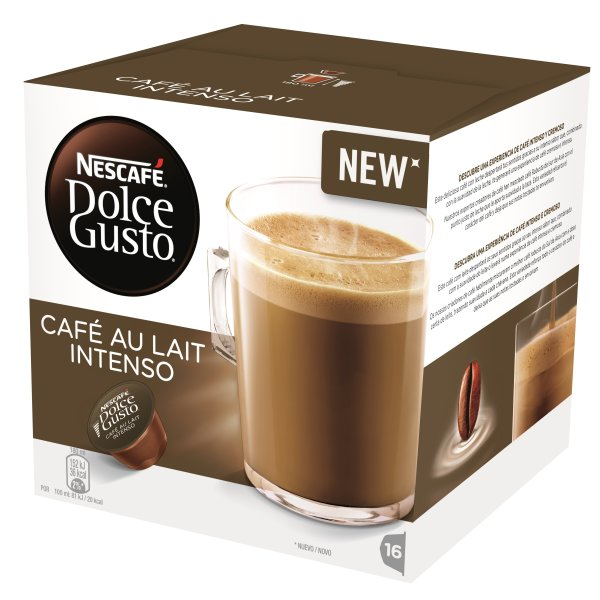 DolceGusto Cafe Au Lait Inten. Kaffekapsler,16 stk